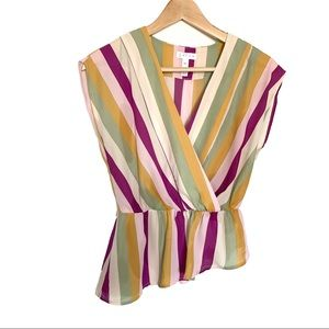 Leith Striped colorful top